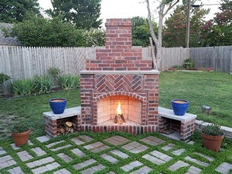 Outdoor Brick Fireplace Ideas by Best 25 Outdoor Fireplace Brick Ideas On