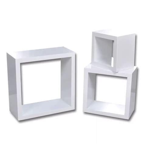 Kubus Regal by Cube Shelf Set Of 3 White Www Vidaxl Au