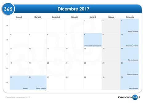 Calendario Dicembre 2017 Calendario Dicembre 2017