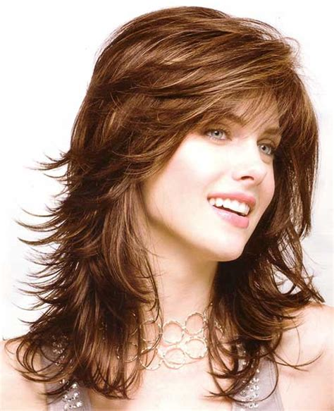 feather layered haircut feathered layered hairstyles for long hair