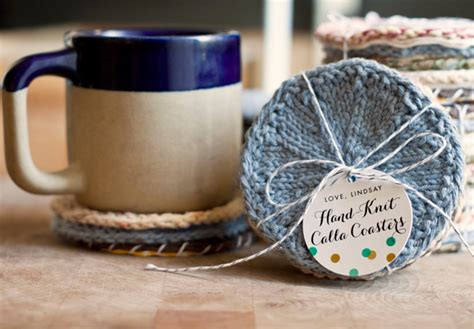knitting gift ideas for knitters handmade gift idea knitted coasters gift favor ideas