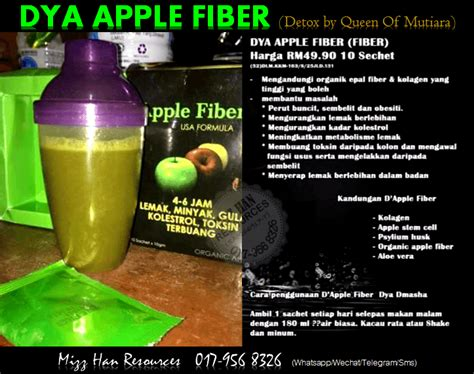 Apple Fiber Detox by Dya Apple Fiber Detox By Qm Mhr Stokis Produk Kecantikan