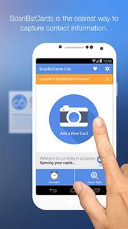 android scan business card scanbizcards lite scan card play de android