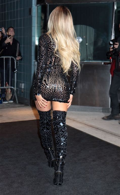 beyonce s ultra mini dress and thigh high boots look