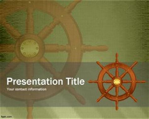 Ship S Wheel Powerpoint Template Ppt Template Pirate Powerpoint Template