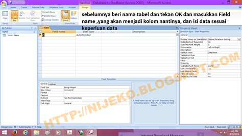tutorial membuat query pada access cara membuat tabel query dan form pada ms access 2007