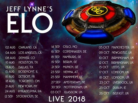 electric light orchestra tour electric light orchestra 2017 tour dates
