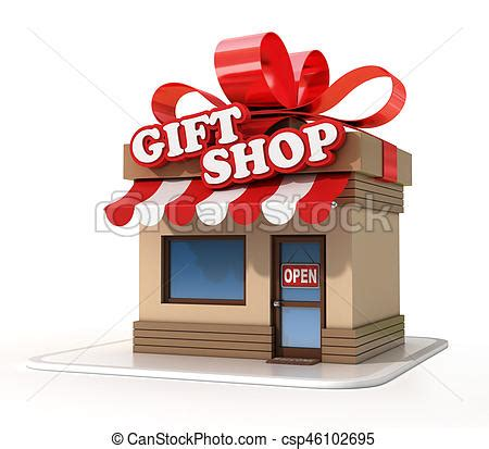 gift shop mini store 3d rendering isolated illustration