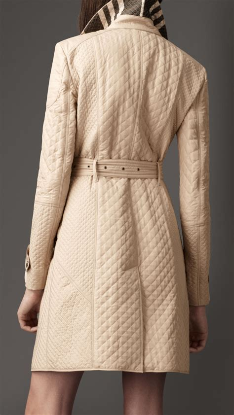 burberry quilted taffeta trench coat in lyst