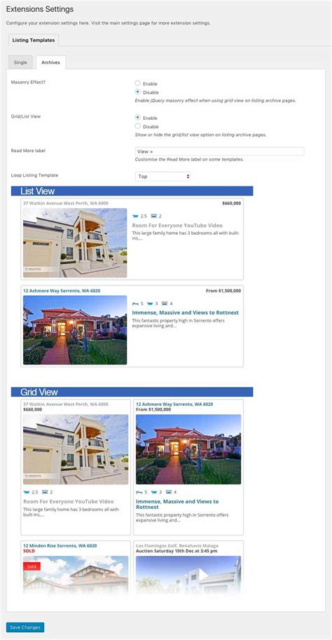 property listing template listing templates easy property listings plugin
