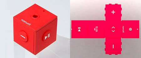 Mobiblus New Cube Shaped Media Player by Pictures Mobiblu Nanum Mp3 Player Cube Unfolds Techeblog