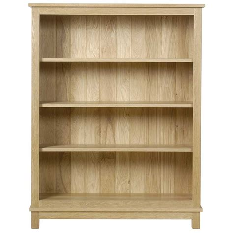 shallow bookcase open shelf bookcase oak bookshelf