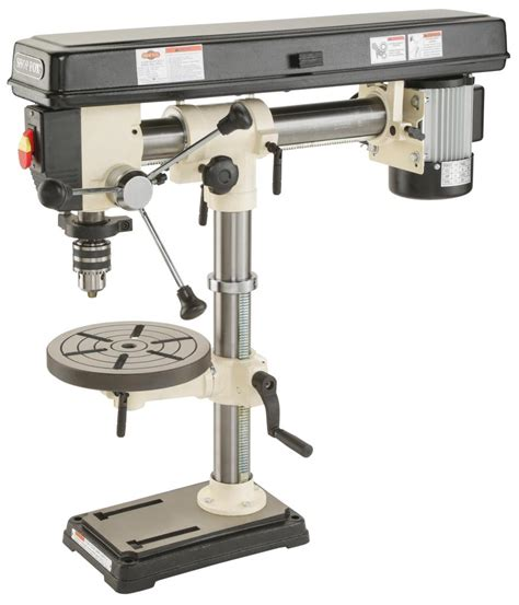 bench drill press shop fox w1669 1 2 horsepower benchtop radial drill press