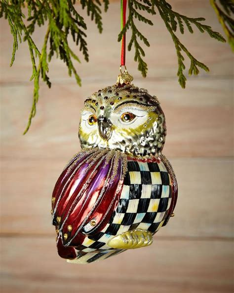 mackenzie childs mackenzie childs regal owl christmas