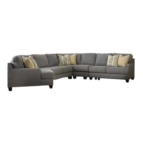 5 piece sectional sofas signature design by ashley furniture chamberly 5 piece