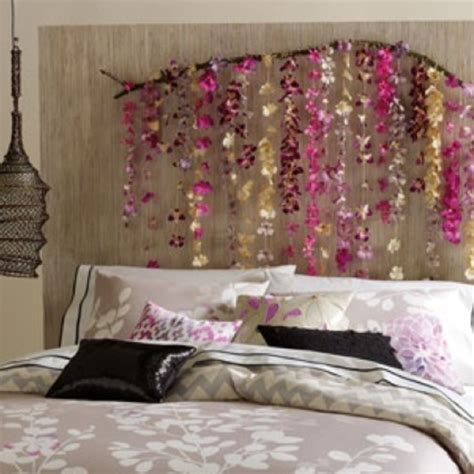fake headboard ideas headboard string beads and hang from string or take fake