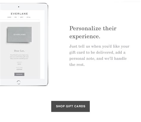 Everlane Gift Card - everlane introducing the gift card milled
