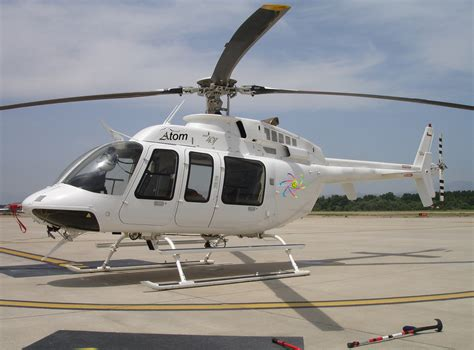 Helikopter Bell 407 bell 407 helicopter atom aviation servicesatom aviation services