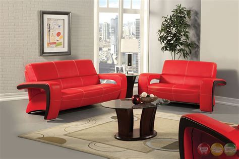 Red And Black Living Room Set | enez modern red and black living room set with v shape