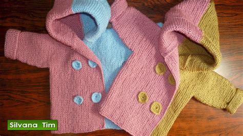 como tejer un saquito de lana abrigo o saquito chaqueta para beb 233 s de 0 meses a 2