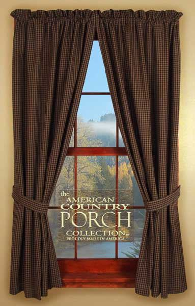 The Country Porch Curtains Plymouth Tieback Curtain Panels