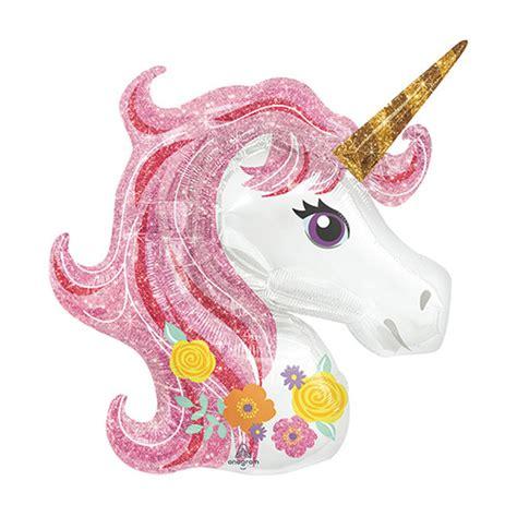 Glitter Unicorn Head Balloon ? Ultimate Party Super Store