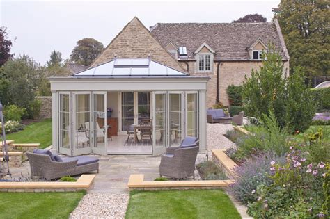 glasveranda wintergarten orangery with bifold doors klassisk uterum annan
