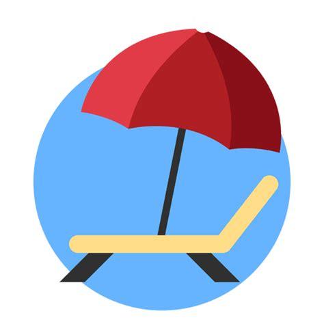 imagenes png viajes tumbona sombrilla de vacaciones descargar png svg