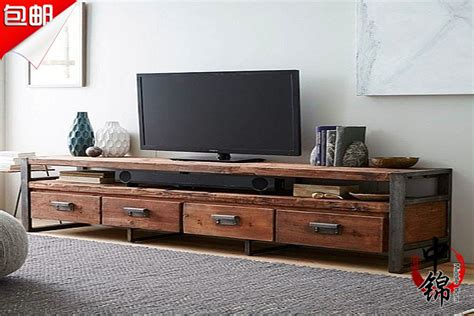 living room tv cabinet combination practical style american industrial style loft living room retro to do the