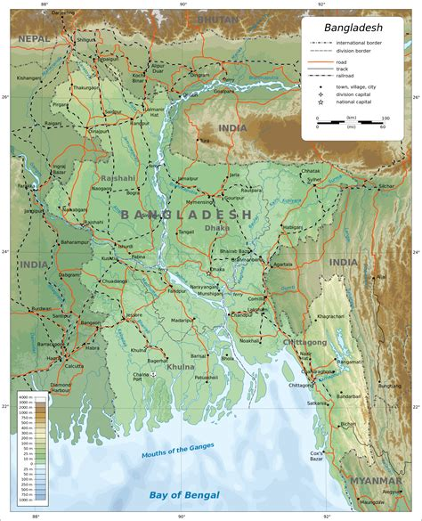 geographical map of bangladesh physical map of bangladesh bangladesh physical map