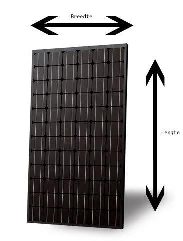 gemiddelde grootte zonnepanelen afmetingen van zonnepanelen sun solar