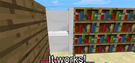 how to use pistons to make an automatic sliding bookshelf