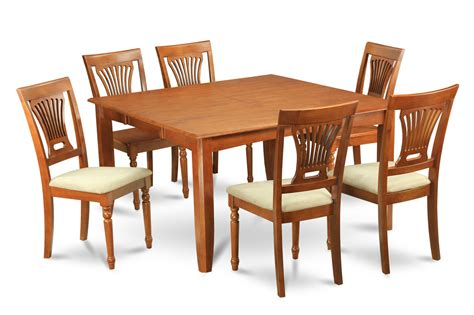 Dining Tables 8 Chairs Pc Square Dinette Dining Table 8 Cushioned Seat Chairs In Brown Dining Decorate