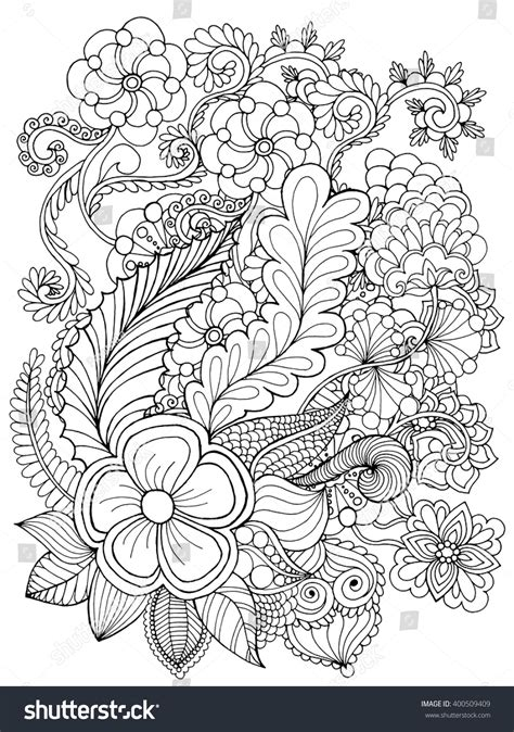 african tribal patterns coloring page fantasy flowers coloring page hand drawn stock vector
