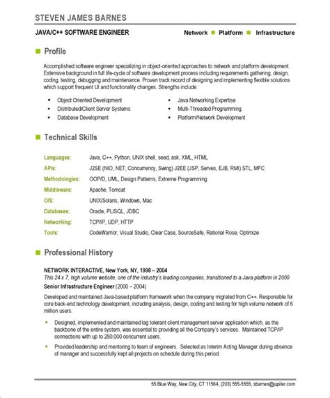 software developer resume template gallery of entry level