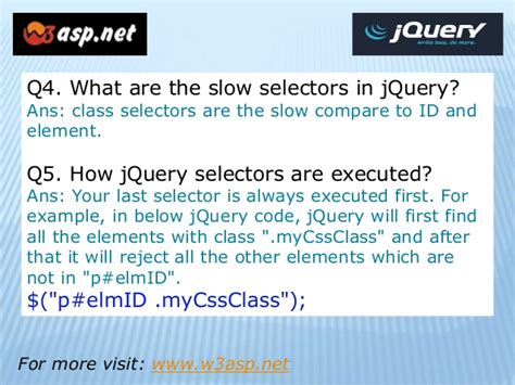 jquery tutorial interview questions jquery interview questions and answers part 2
