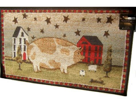 Americana Throw Rugs by Country Americana Large Decorative Area Rug