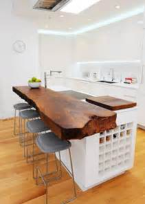 15 stylish wood furniture and features with natural edge custom wood kitchen island top flickr photo sharing