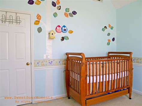 baby bedroom borders baby nursery part 1 wall mural diy sweetsourmoments