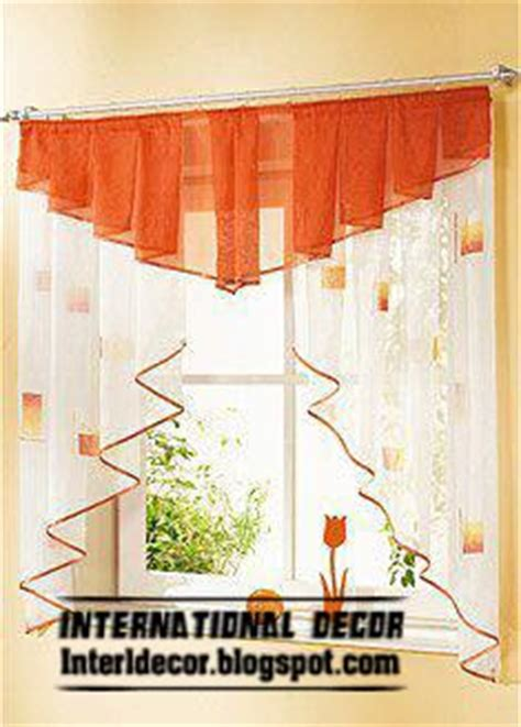 Orange Kitchen Curtains Designs 8 Small Curtains Styles For Kitchens Color Inspiration Home And House Design Ideas