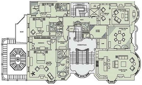 mansion floor plans with dimensions