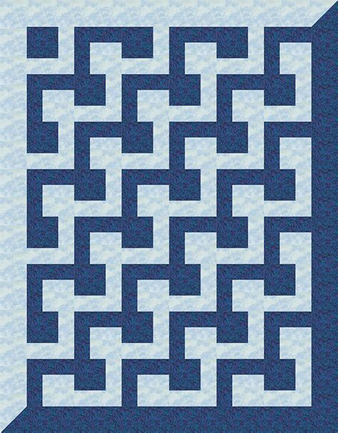 Patchwork Quilt Meaning - l block quilt 17 this computer illustrated l block quilt