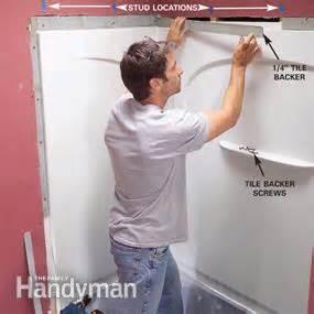 Bathroom Tub Walls Install An Acrylic Tub And Tub Surround The Family Handyman