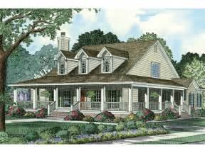 Country Style House by Old Farmhouse Plans With Wrap Around Porches