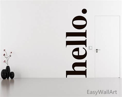 hello wall stickers large hello wall decal quotes hello door decal welcome wall