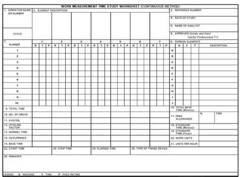 time study template excel template design