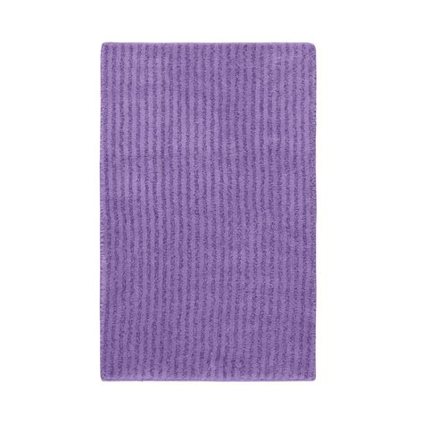 Purple Bathroom Rug Garland Rug Purple 24 In X 40 In Washable Bathroom Accent Rug She 2440 09 The Home