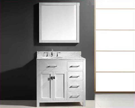 virtu usa 36 quot single bathroom vanity white vu ms