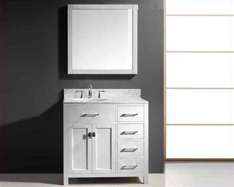 virtu bathroom vanity virtu usa 36 quot single round bathroom vanity white vu ms 2136r wmro wh