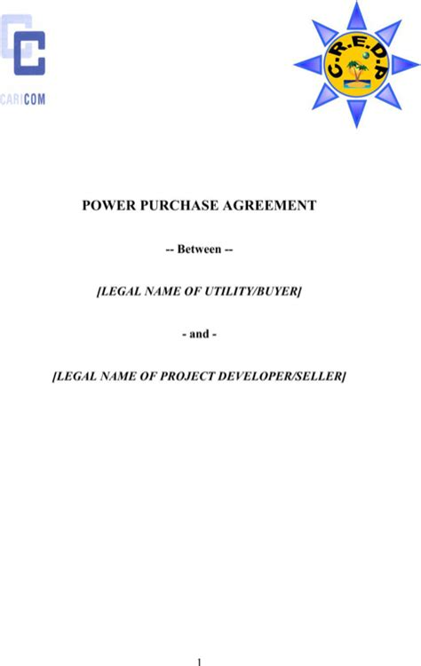 download power purchase agreement for free formtemplate